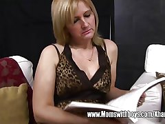 Matured Blonde Stepmom Ass Spanking Their way Stepson