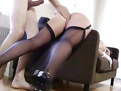British adult close to stockings being fucked