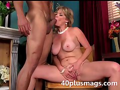 blonde mature beauty ready to enactment