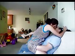 Amateur milf on vibrant homemade