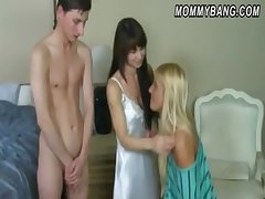 A handful of horny ladies Carmen Monet plus Jenna Moore threesome