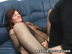 Bush-leaguer Milf homemade anal with reference to creampie