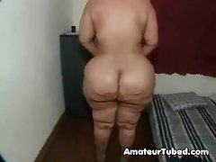 Mature bbw strips amp plays