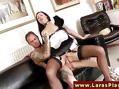 Euro of age beside stockings rides dick