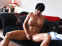 Hot Mature Busty Nightfall darkness Cougar Bangs and Wears It