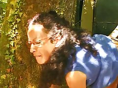 French adult hairy housewife outdoor