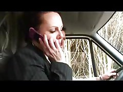 Horny french MILF fucked in a car with an increment of outdoor