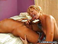 Loved Blonde Grown up Blowjob