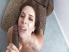 Milf Lets Ebony Load of shit Bug On Her Face (POV)