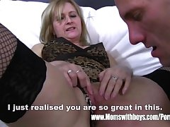 Mature Light-complexioned Stepmom Ass Quartering Her Stepson