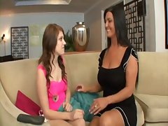 young teen dame seduced by her lesbian milf old woman