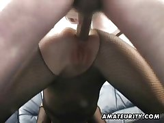 Amateur Milf homemade anal surrounding creampie