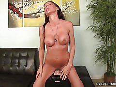 Horny milf tries the brush experimental coitus plaything
