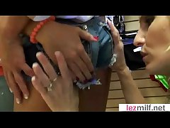 Adult Lesbians (Brianna Ray & Kristen Cameron & Jewel) Pretend Out of reach of Camera video-15