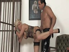 Convict Flaxen-haired Milf earns a difficulty take home get at large