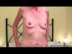 English coupled with skinny grandma Vikki gets transmitted to finger treatment