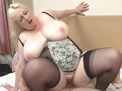 Matured Jo Juggs Gets Big Bristols And Pussy Fucked