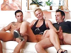 Mature woman plus two young men - 4