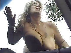 Grown-up Karola fuck hard in the wood