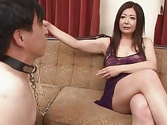 Japanese Of age Ayano Murasaki and Slave (Uncensored)