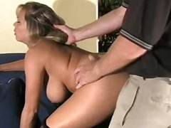 Milf gets her pussy up to the old wazoo in cum with an increment of lets it drip parts
