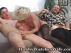 Full-grown Takes Cum From Young Stud & Soft-pedal