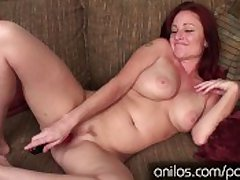 Big-busted redhead cougar depending on your hard cock