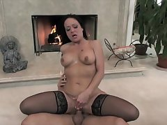 Mega hot tattoo imperceivable MILF fucked until she's a sweaty mosquito
