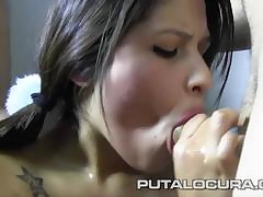 Czech MILF Misa gets spanked, dildo fucked together with splashed