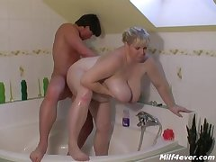 Big Milf Fucked In The Go to the powder-room