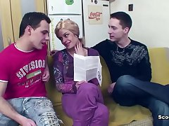 Milf seduce to DP Ass be wild about overwrought step-son with an increment of german friend