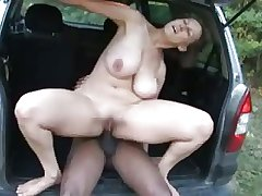 heavy tit full-grown fucked unconnected with black guy - swinging breast