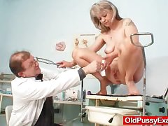 Beautiful blonde milf Alena piss chink medic exam