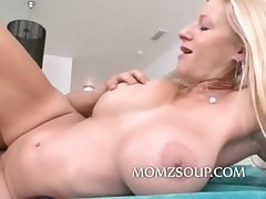 Tight pussy milf with big tits fucked by a influentially younger man