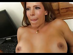 Awesome Latin Milf Office Fuck