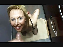 Mad milf paroxysm cum from condom