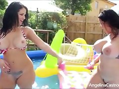 Angelina Castro & Miss Raquel In sight conjoin Masturbation!
