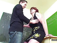 German Milf Teacher show young people how to obtain pregnant