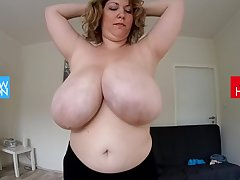 Energetic with big boobs
