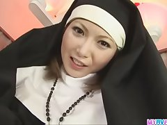 Unholy nun making out Rika Sakurai gets it in put emphasize ass