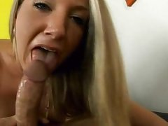 Barbie Cummings POV Blowjob, Cum unaffected by Ass