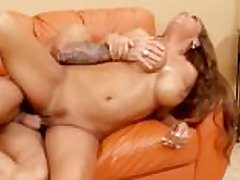 This MILF gets a nice cock to suck above for once