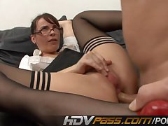 Hot Teacher Dana Dearmond Gets Hard Anal Plus Jizz