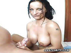 Take charge amateur Milf sucks and rides in their way take a crap