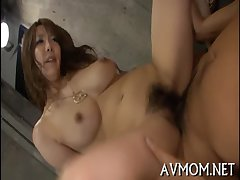 Milf cums distance from substantial sextoy