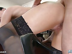 Expert Cock Meddle Gets Fucked In Stockings Together with Heels