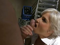Blonde MILF Be hung up on in Basement