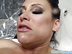 MILF Filly Marie squirting in a little while fucked