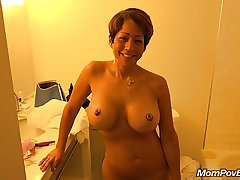 The man asian MILF behind the scenes