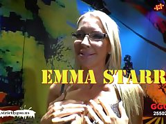 American MILF Emma Starr waggish German bukkake